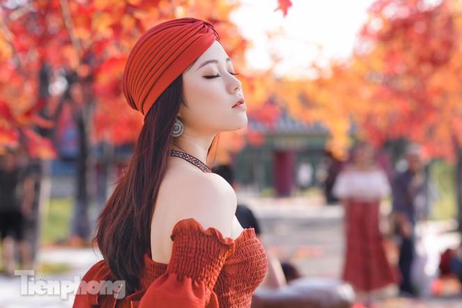 Ngỡ ngàng với con đường phong lá đỏ ở Hà Nội Ảnh 7