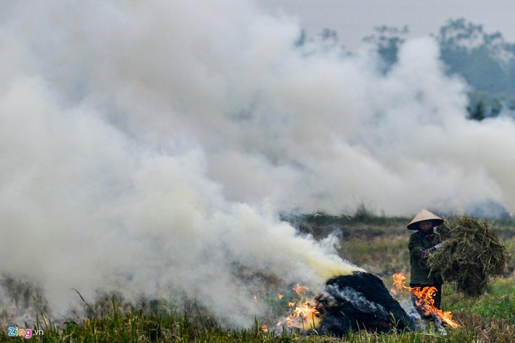 Hà Nội chìm trong khói đốt rơm Ảnh 10