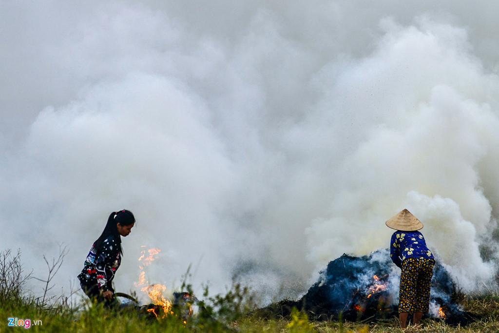 Hà Nội chìm trong khói đốt rơm Ảnh 8