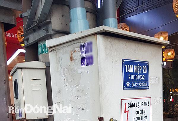 Bốt điện, tủ viễn thông bị chiếm dụng để quảng cáo Ảnh 3