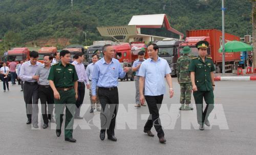 Kiểm tra, chỉ đạo giải quyết ùn ứ nông sản tại cửa khẩu Tân Thanh (Lạng Sơn) Ảnh 2