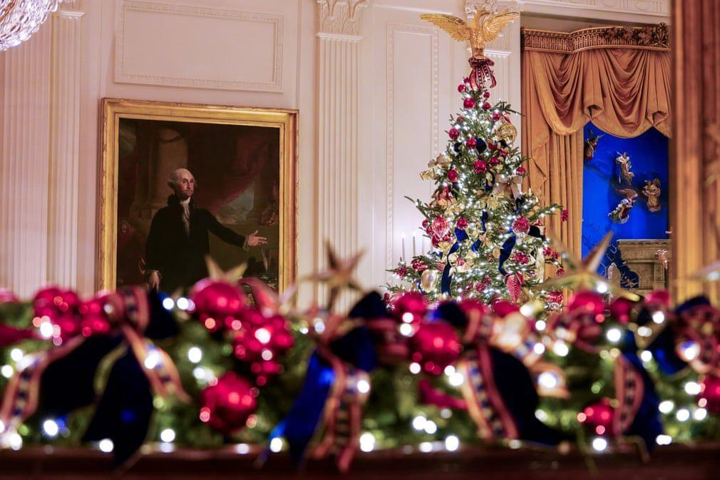 Ngắm không khí Giáng sinh 2019 - 'Tinh thần của nước Mỹ' tại Nhà Trắng Ảnh 11