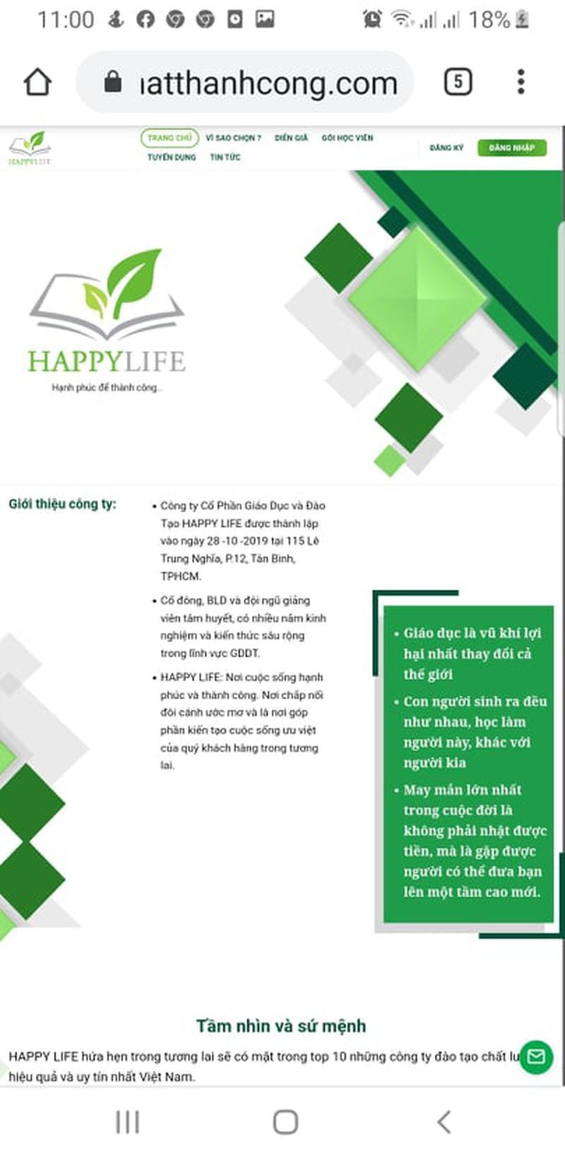 Happy Life đang bán các khóa học theo mô hình đa cấp ? Ảnh 4