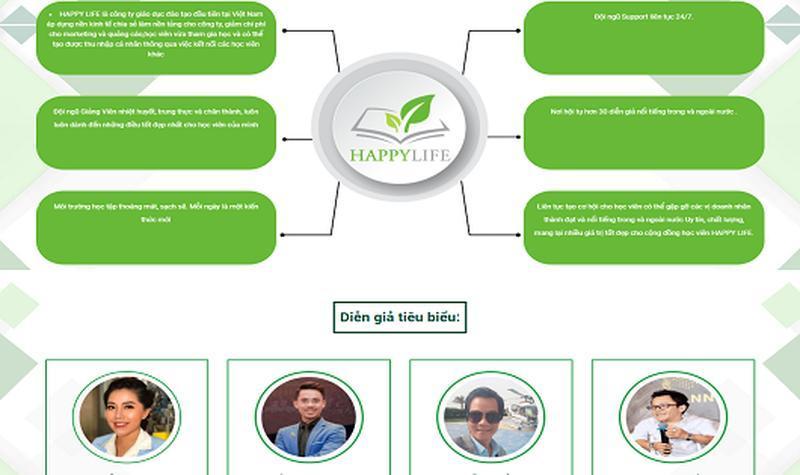 Happy Life đang bán các khóa học theo mô hình đa cấp ? Ảnh 1