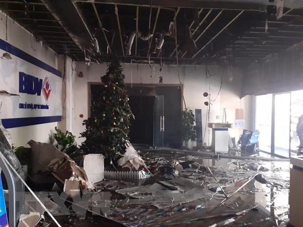 Hà Nội: Cháy tại ngân hàng BIDV Nguyễn Chí Thanh Ảnh 1