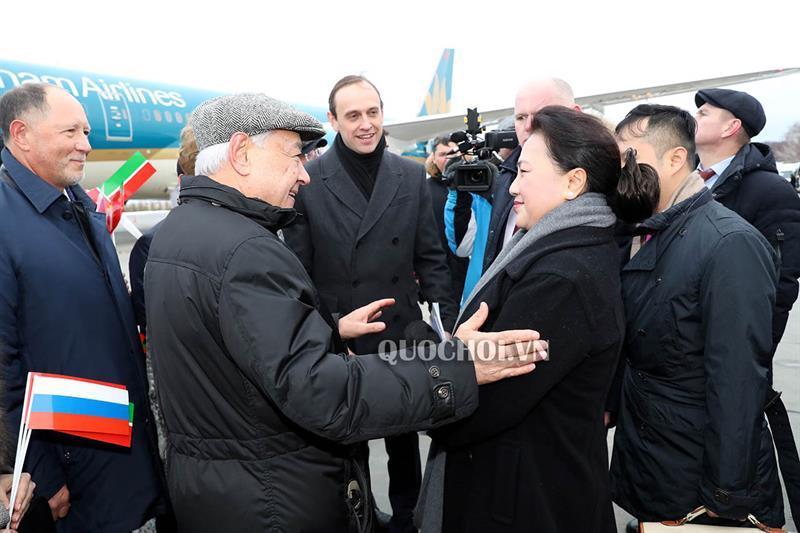 Chủ tịch Quốc hội Nguyễn Thị Kim Ngân và Đoàn đại biểu cấp cao Quốc hội Việt Nam đến thành phố Kazan, cộng hòa tatarstan, Liên bang Nga. Ảnh 1