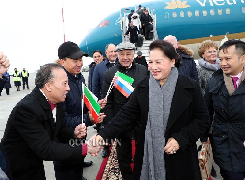 Chủ tịch Quốc hội Nguyễn Thị Kim Ngân và Đoàn đại biểu cấp cao Quốc hội Việt Nam đến thành phố Kazan, cộng hòa tatarstan, Liên bang Nga. Ảnh 2