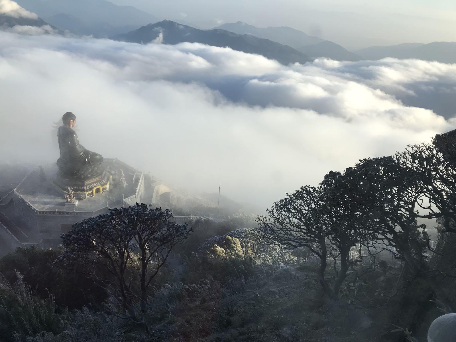 Vẻ đẹp của 'đỉnh núi bạc' Fansipan trong mùa đông Ảnh 9