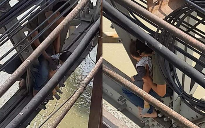 Cuộc sống gia đình bế tắc, người đàn ông ôm con nhỏ 7 tháng tuổi định nhảy cầu Long Biên tự tử Ảnh 1
