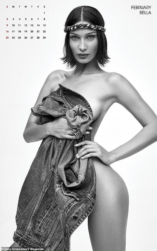 Gigi Hadid cùng dàn siêu mẫu đình đám đồng loạt 'cởi đồ' chụp ảnh lịch Ảnh 3