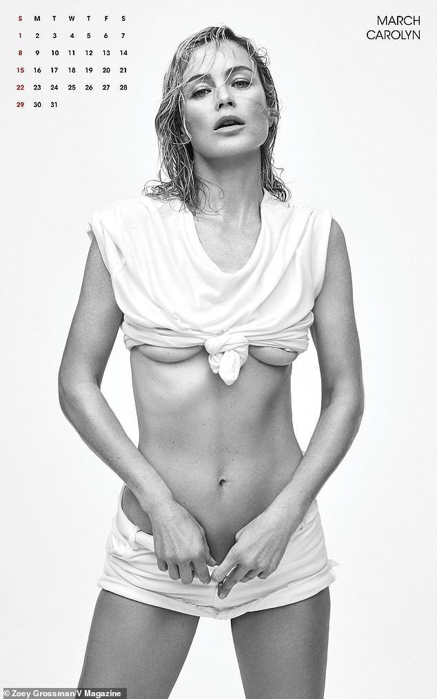 Gigi Hadid cùng dàn siêu mẫu đình đám đồng loạt 'cởi đồ' chụp ảnh lịch Ảnh 4