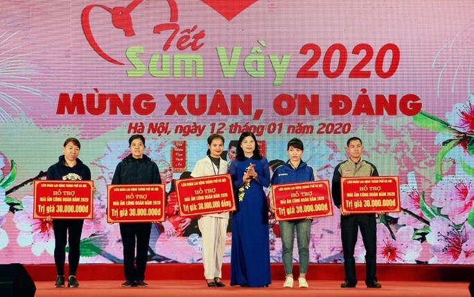Hà Nội: 35 tỉ đồng chăm lo Tết cho đoàn viên, người lao động Ảnh 1