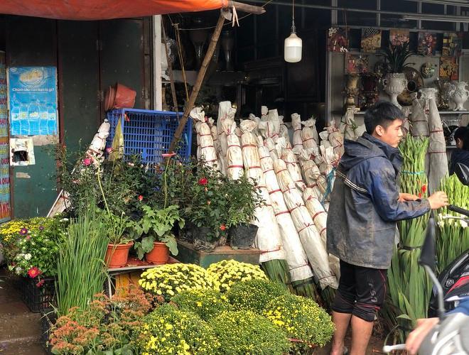 Nhộn nhịp chợ hoa Quảng An ngày cuối năm trong mưa lạnh Ảnh 5