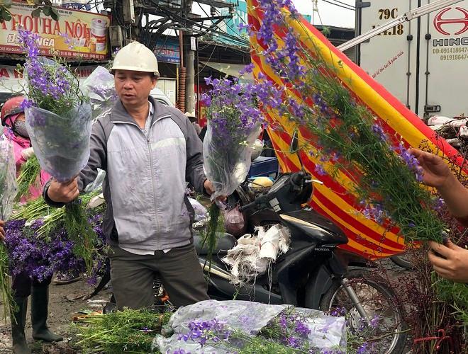 Nhộn nhịp chợ hoa Quảng An ngày cuối năm trong mưa lạnh Ảnh 22