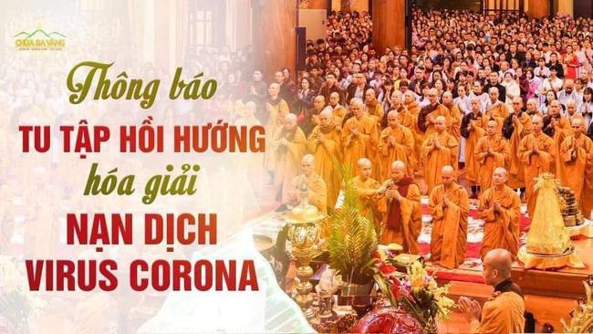 Bất ngờ xuất hiện thông báo chương trình tu tập hồi hướng hóa giải dịch cúm virus Corona của sư thầy Thích Trúc Thái Minh Ảnh 2