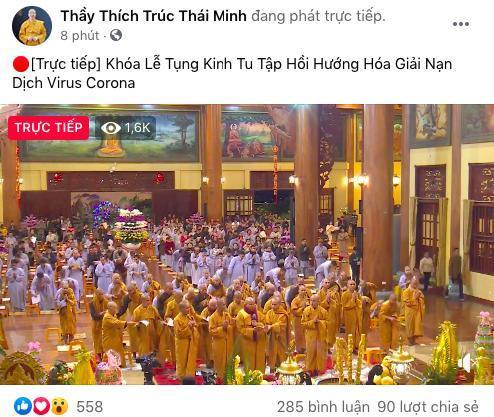 Bất ngờ xuất hiện thông báo chương trình tu tập hồi hướng hóa giải dịch cúm virus Corona của sư thầy Thích Trúc Thái Minh Ảnh 3