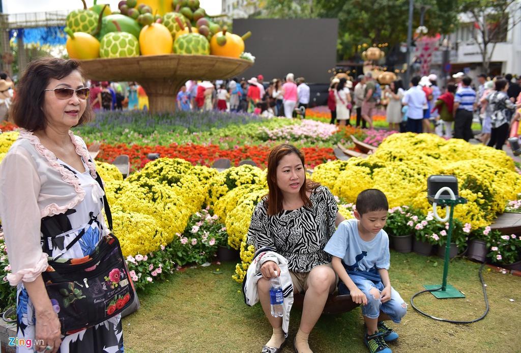 Chưa hết Tết, hàng trăm chậu hoa bị đạp nát ở đường hoa Nguyễn Huệ Ảnh 14