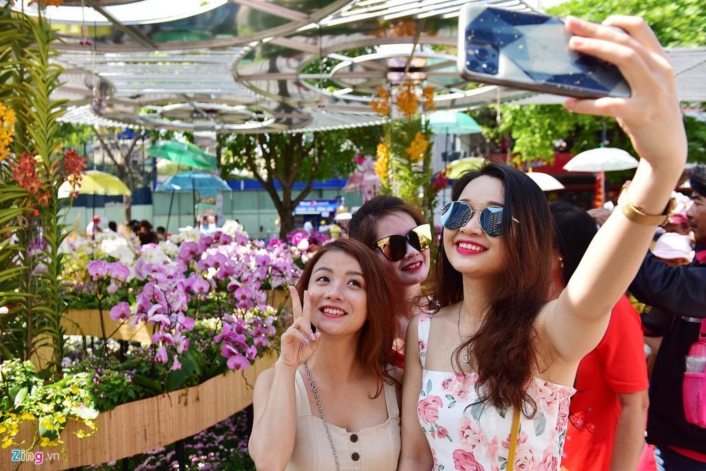 Chưa hết Tết, hàng trăm chậu hoa bị đạp nát ở đường hoa Nguyễn Huệ Ảnh 2