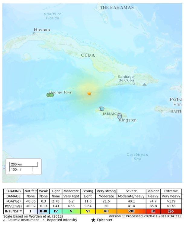 Động đất độ lớn 7,7 ở ngoài khơi Cuba và Jamaica, cảnh báo sóng thần Ảnh 2