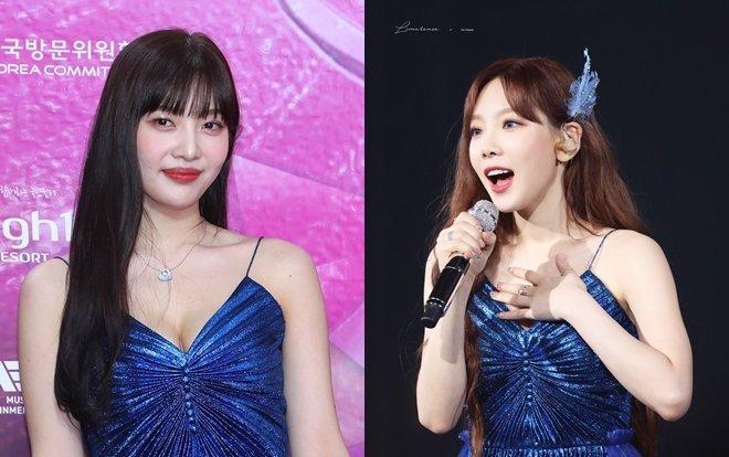 Fan xôn xao chuyện 'chị em mượn đồ': Joy (Red Velvet) diện váy tại Seoul Music Awards 2020 'đụng hàng' Taeyeon (SNSD) Ảnh 1