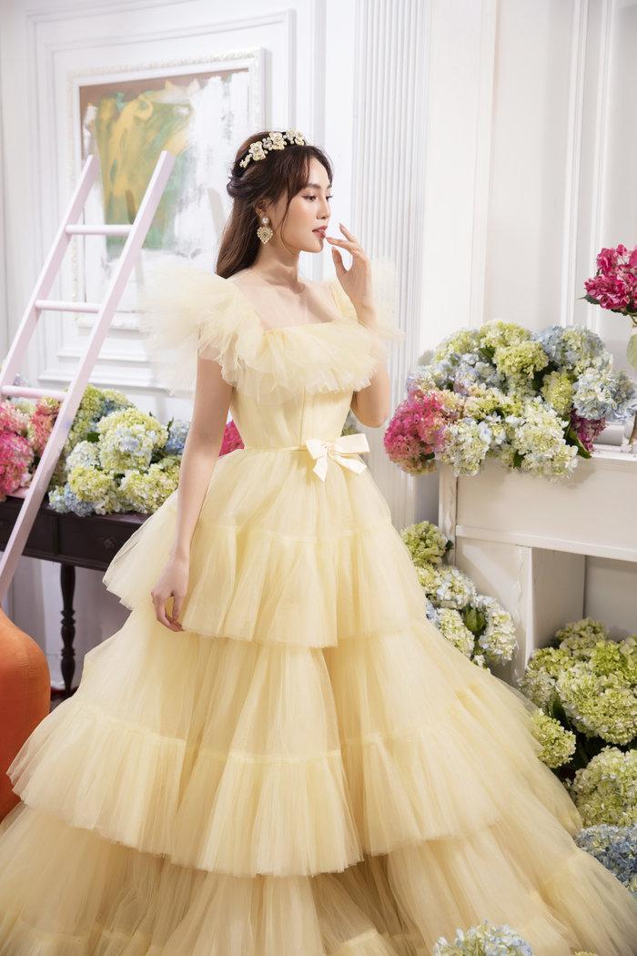 Chán ăn diện sang chảnh, Ninh Dương Lan Ngọc bỗng xinh như tiên nữ với váy bánh bèo Ảnh 7