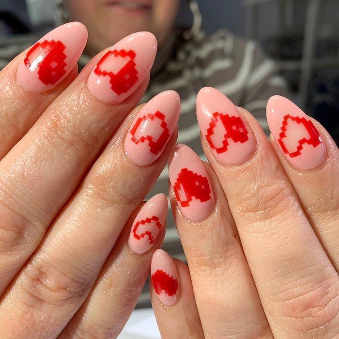 12 ý tưởng làm nail nghệ thuật cực độc cho ngày Valentine Ảnh 8
