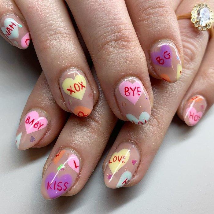 12 ý tưởng làm nail nghệ thuật cực độc cho ngày Valentine Ảnh 9