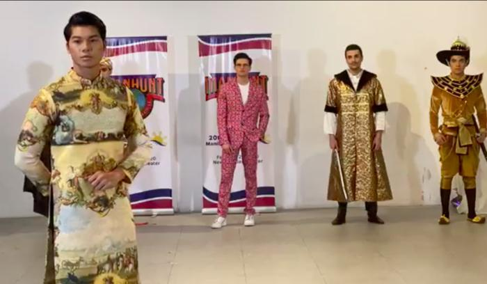 Phạm Đình Lĩnh diện National Costume áo dài độc đáo, được dự đoán đăng quang Manhunt International 2020 Ảnh 4