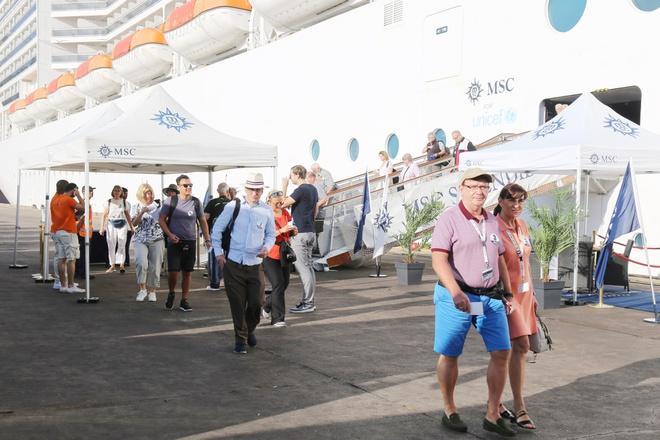 Đo thân nhiệt hơn 800 hành khách trên tàu MSC Splendida ở Vũng Tàu Ảnh 1