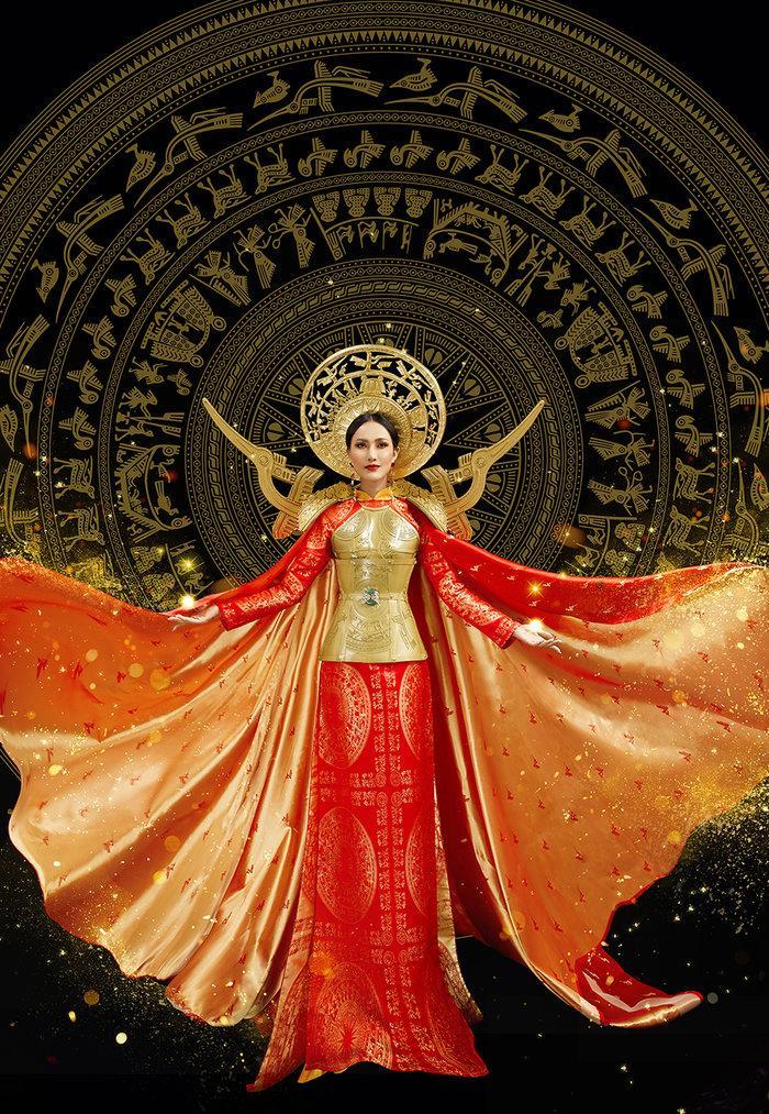 Hé lộ ý nghĩa bộ trang phục dân tộc của Hoài Sa tại Miss International Queen 2020 Ảnh 9