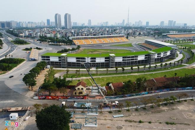 Tháo dỡ khán đài F1 Hà Nội vì tạm hoãn đua xe Ảnh 8