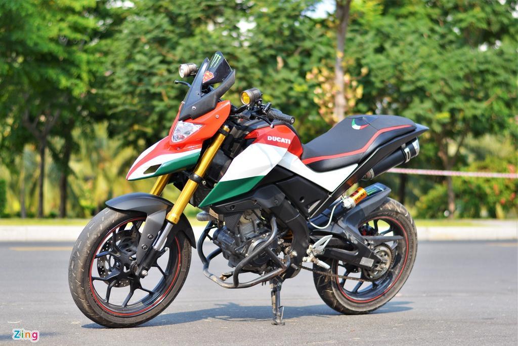 Yamaha TFX biến hóa thành Ducati Hypermotard độc nhất VN Ảnh 1