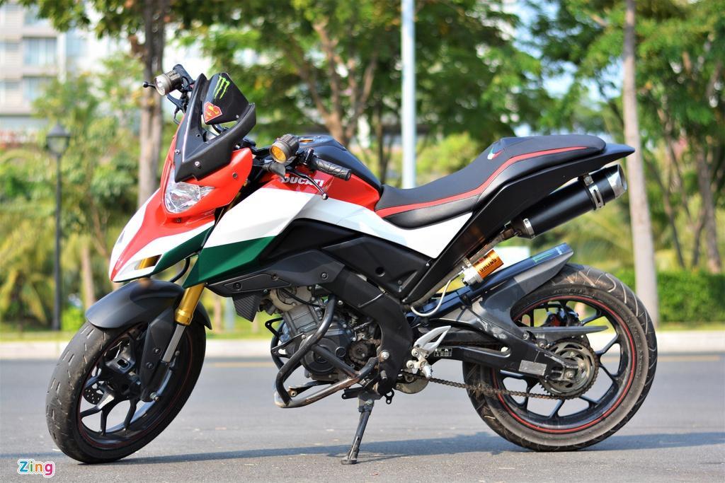 Yamaha TFX biến hóa thành Ducati Hypermotard độc nhất VN Ảnh 12