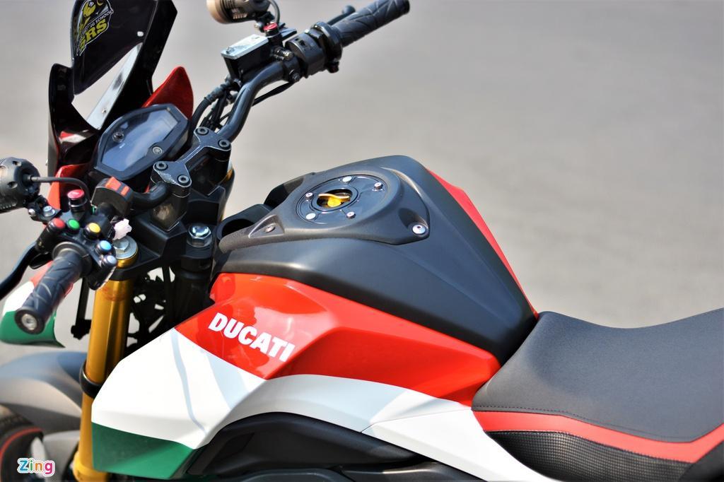 Yamaha TFX biến hóa thành Ducati Hypermotard độc nhất VN Ảnh 4