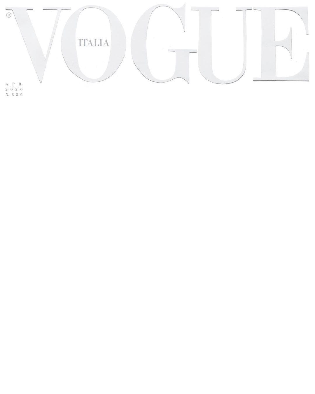 Vogue Italia gây chấn động với bìa báo trắng trơn cùng thông điệp ý nghĩa Ảnh 1
