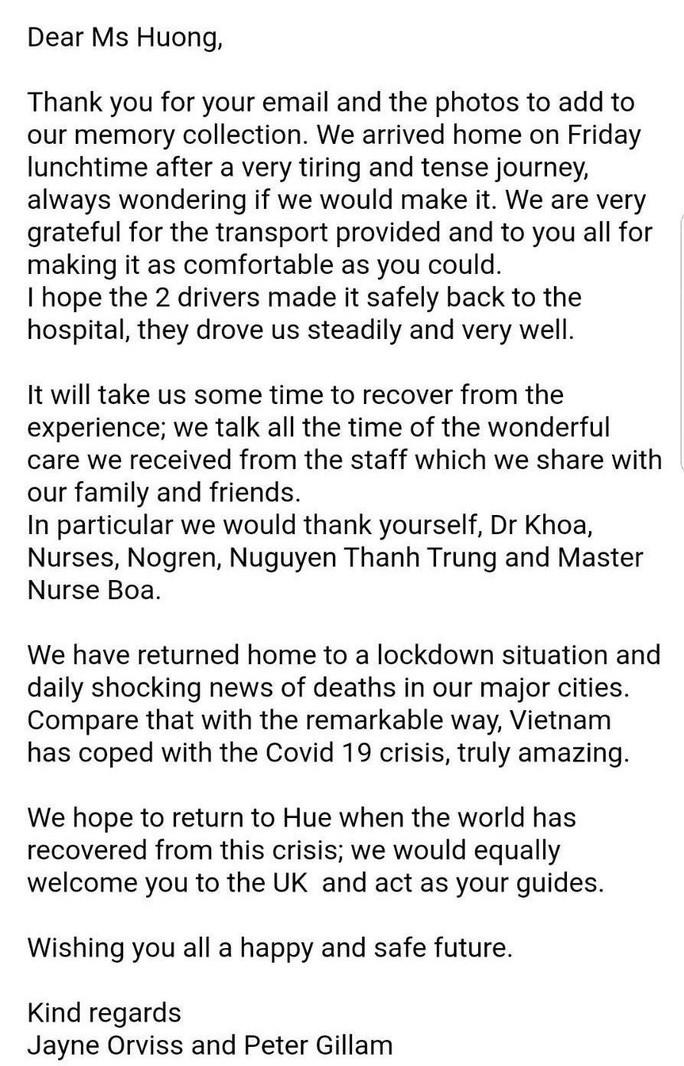Vợ chồng du khách Anh bày tỏ kinh ngạc thành công của Việt Nam sau khi được chữa khỏi dịch Covid-19 Ảnh 2