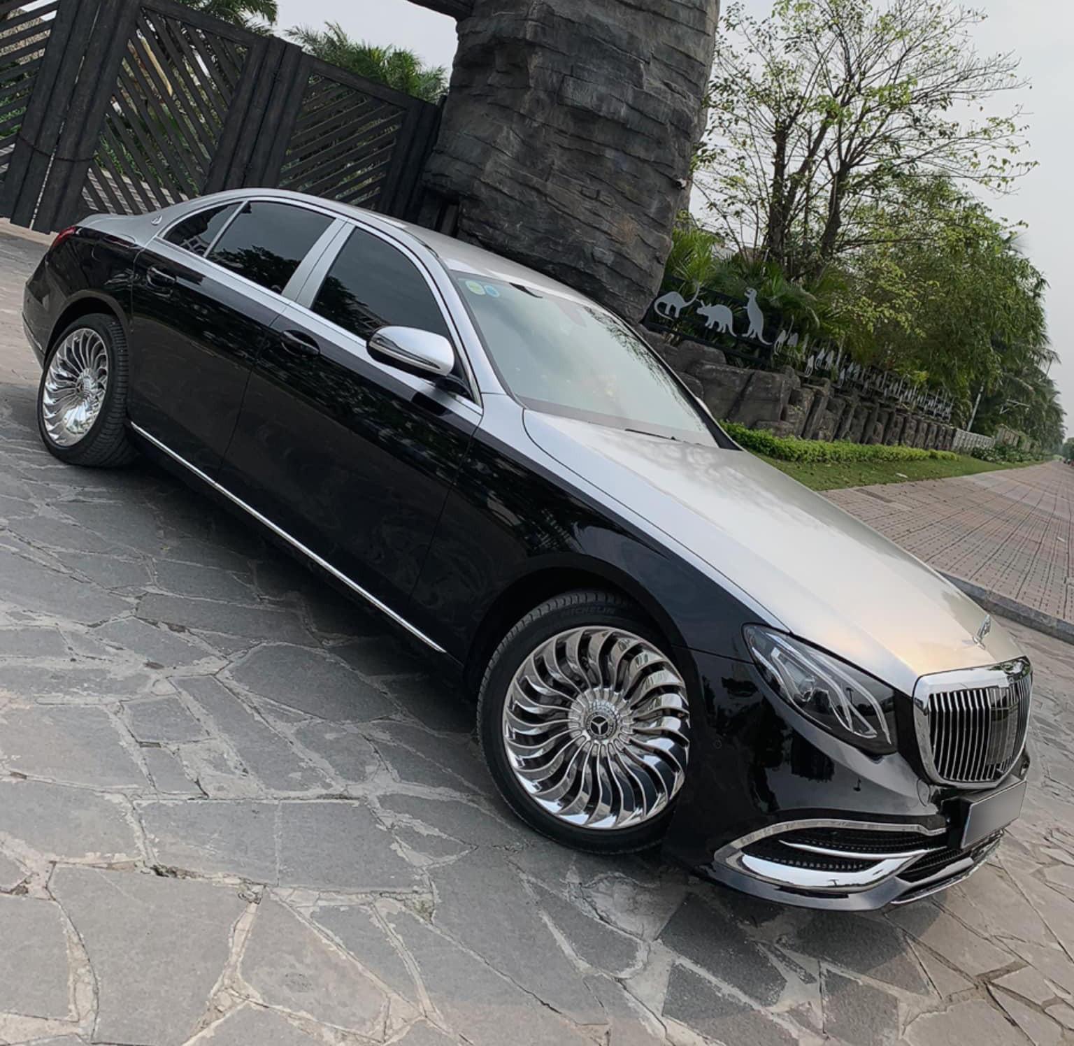 Dân chơi Hà Nội tự mình 'hô biến' Mercedes-Benz E 200 thành S 450 Maybach chỉ với 150 triệu đồng Ảnh 4