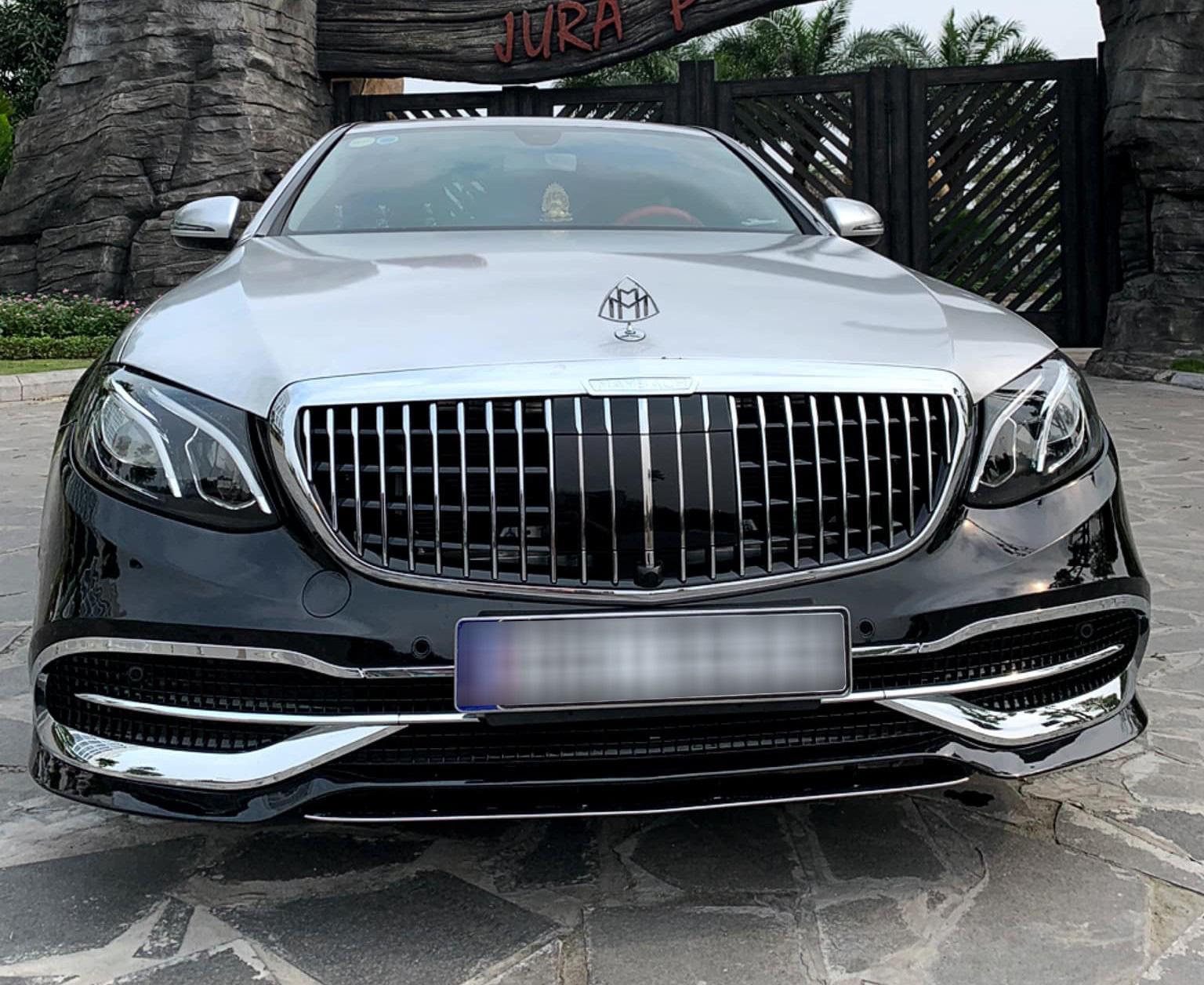 Dân chơi Hà Nội tự mình 'hô biến' Mercedes-Benz E 200 thành S 450 Maybach chỉ với 150 triệu đồng Ảnh 1
