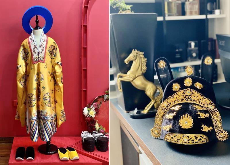 Nhà thiết kế trẻ tài năng mang áo dài mở màn show thời trang trên đất Chùa Vàng Ảnh 1