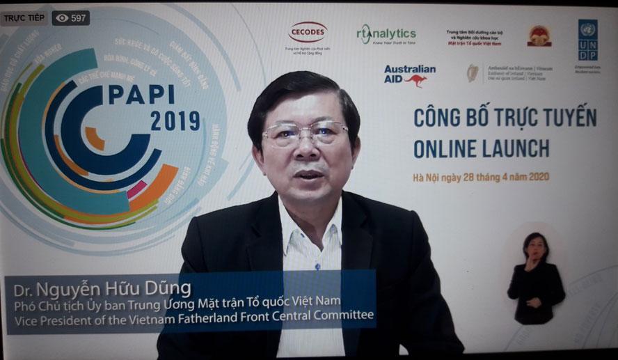 PAPI năm 2019: Cải thiện lớn nhất ở lĩnh vực kiểm soát tham nhũng trong khu vực công Ảnh 1
