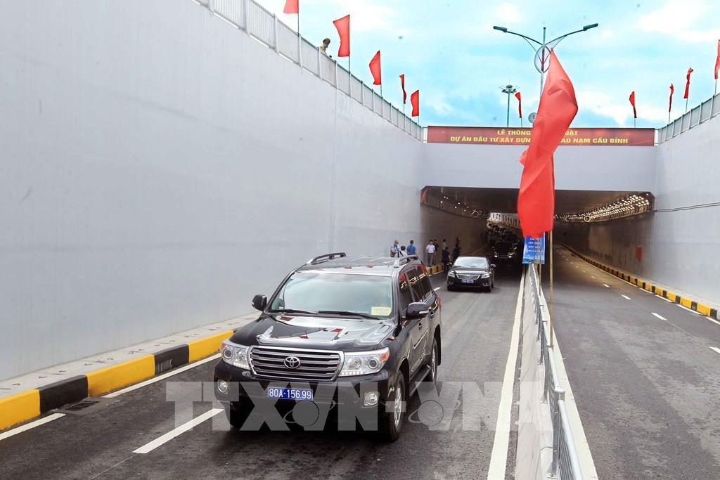 Thông xe kỹ thuật tuyến đường kết nối thành phố Hải Phòng với huyện Thủy Nguyên Ảnh 1