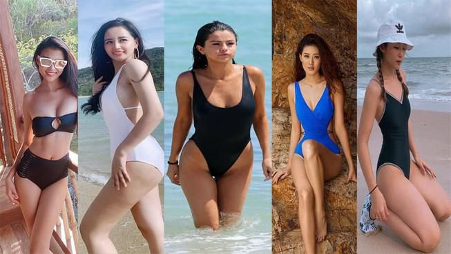 Từ Selena Gomez đến mỹ nhân Việt thích đồ bơi mùa hè nào nhất Ảnh 1
