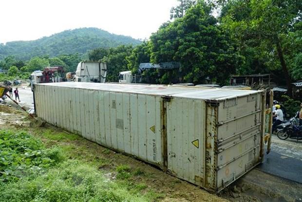 Điện Biên: Lật xe container chở chanh leo tại 'điểm đen' Nà Lơi Ảnh 1
