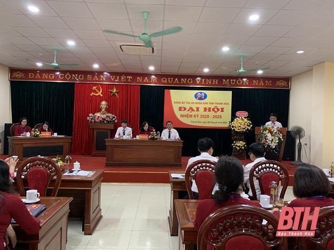 Đại hội Đảng bộ Tòa án Nhân dân tỉnh, nhiệm kỳ 2020- 2025 Ảnh 1