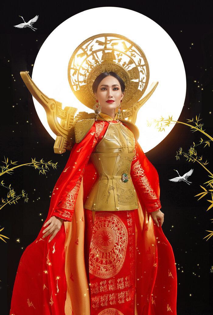 Hoài Sa có National Costume 'Bà Triệu', Khánh Vân mang 'Trưng Nữ Vương' oanh tạc Miss Universe? Ảnh 5