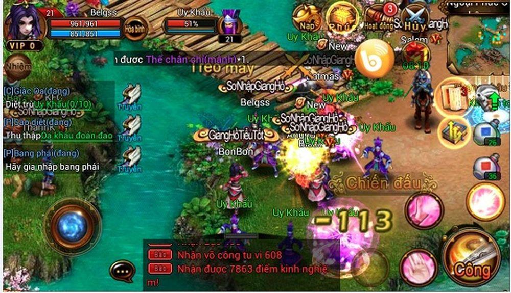 6D Võ Lâm thu hút game thủ ngay từ khi mới ra mắt
