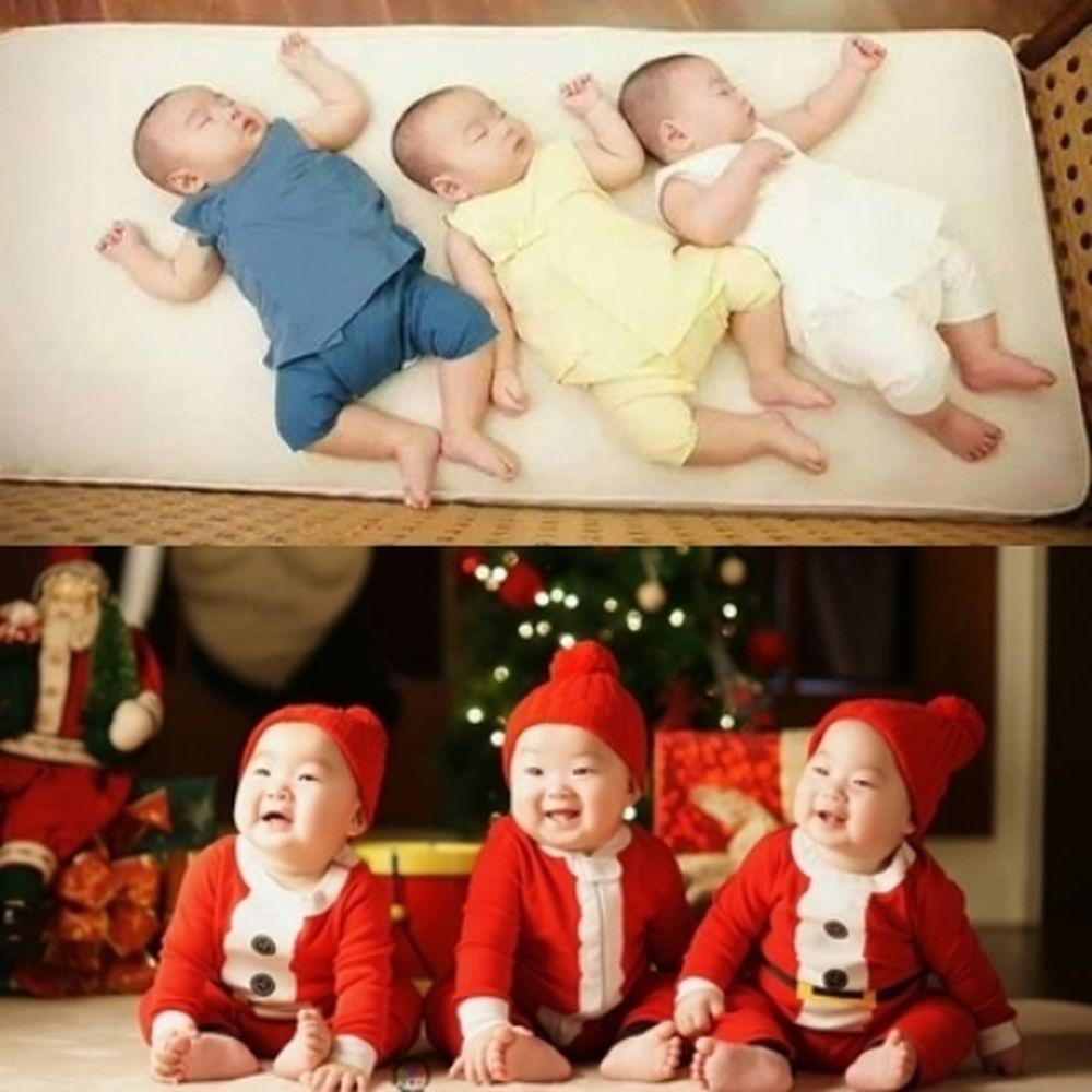 Daehan, Minguk, Manse chào đời 16/3/2012, là con trai của nam diễn viên  Song Il Kook