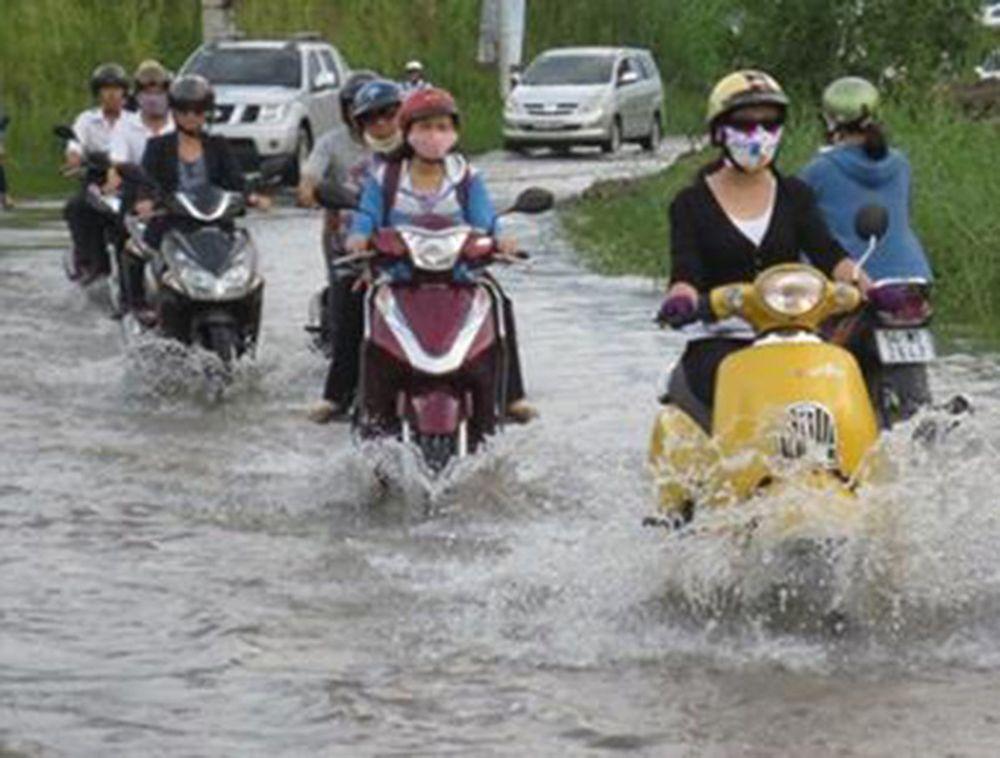 Image result for xe tay ga chết máy do ngập nước