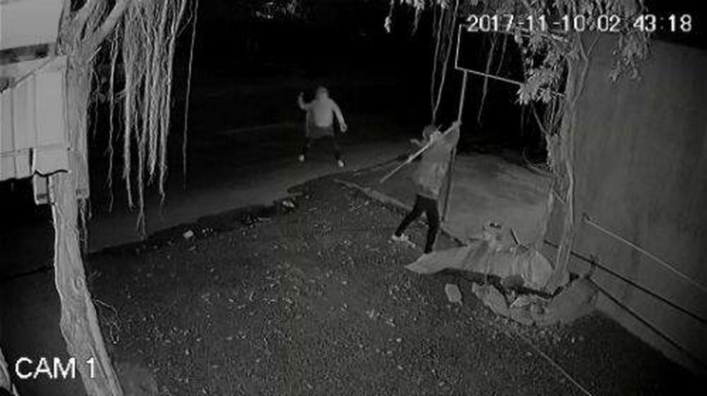 Camera Ghi Lại Hình Ảnh 2 Đối Tượng Phá Quán Của Gia Đình Chị Vân Anh.