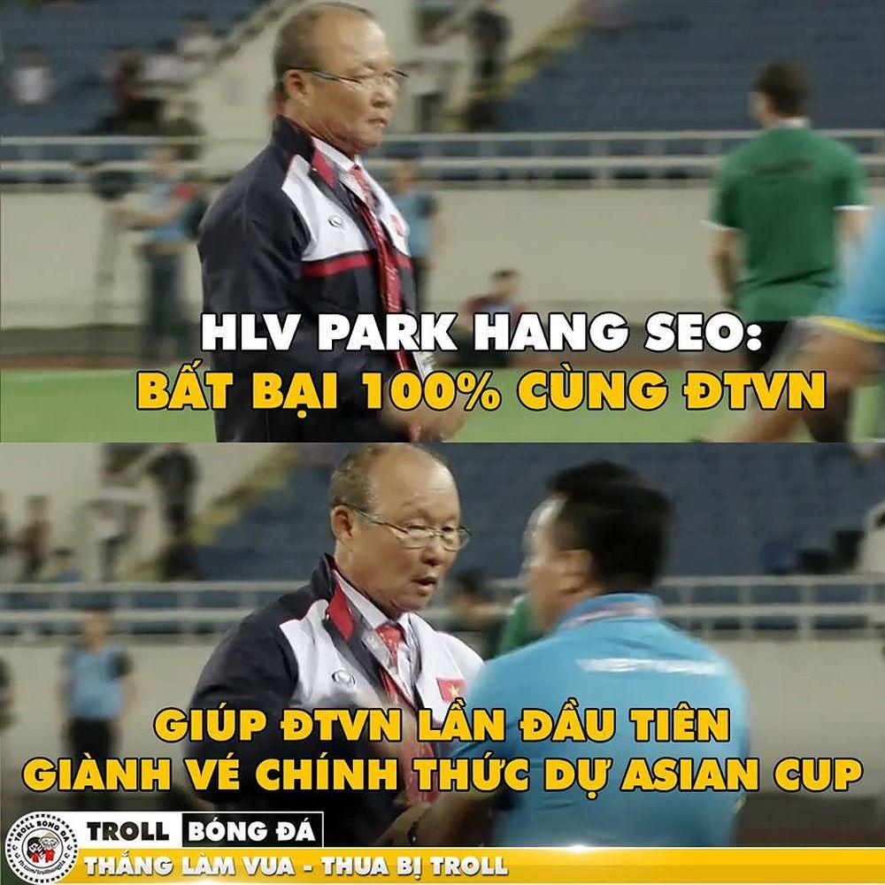Chiến công đầu tay của HLV Park Hang Seo với ĐT Việt Nam. (Ảnh: Troll Bóng Đá)